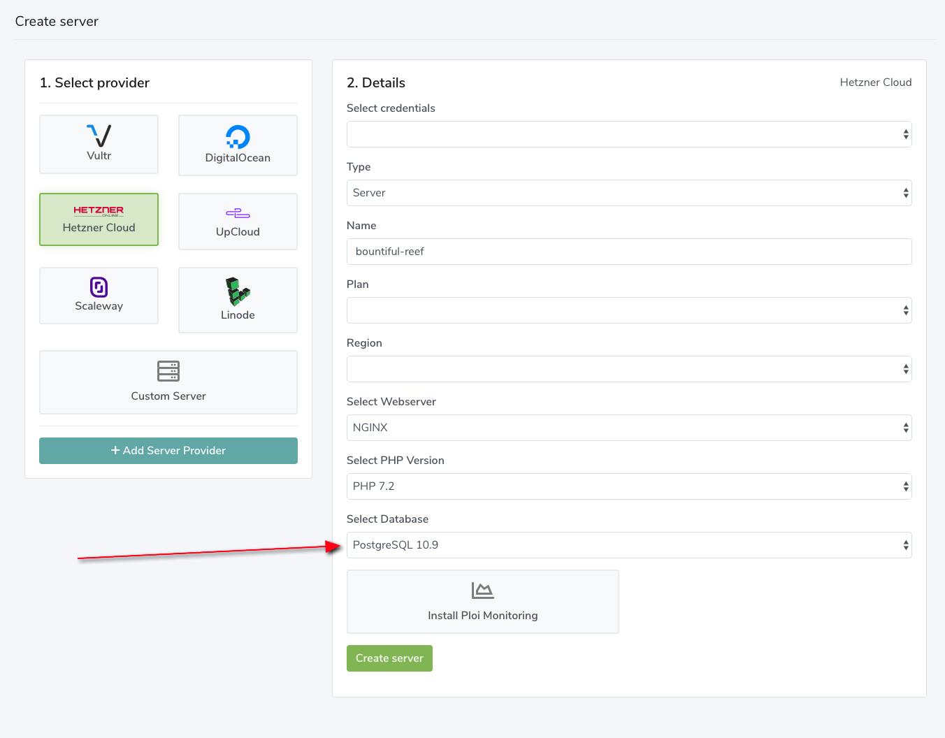 Site Uptime Monitor & PostgreSQL support - Server Management